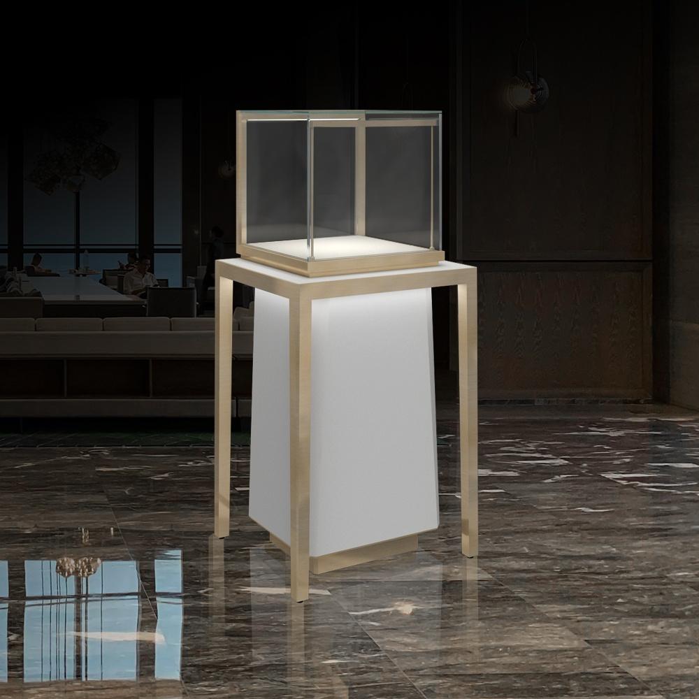 MT-27 Luxury Metal Legs Pedestal Display Case | Besty Display