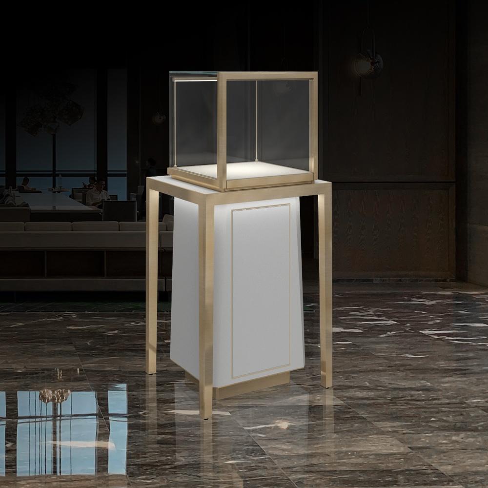 MT-27 Metal Legs Pedestal Display Case | Besty Display