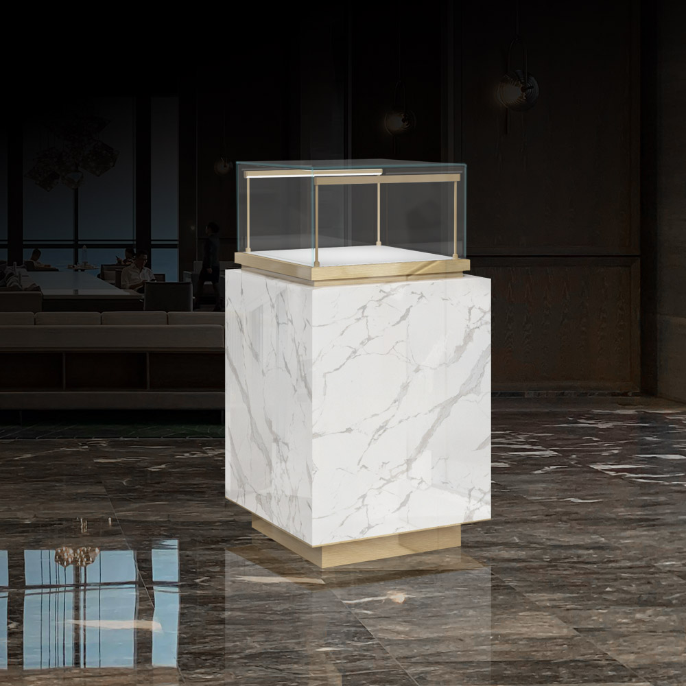 MT-25-1067 Marble Display Case front View| Besty Display