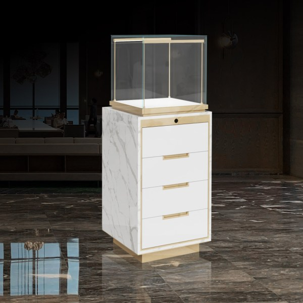MT-25-1473 Marble Display Case back View| Besty Display