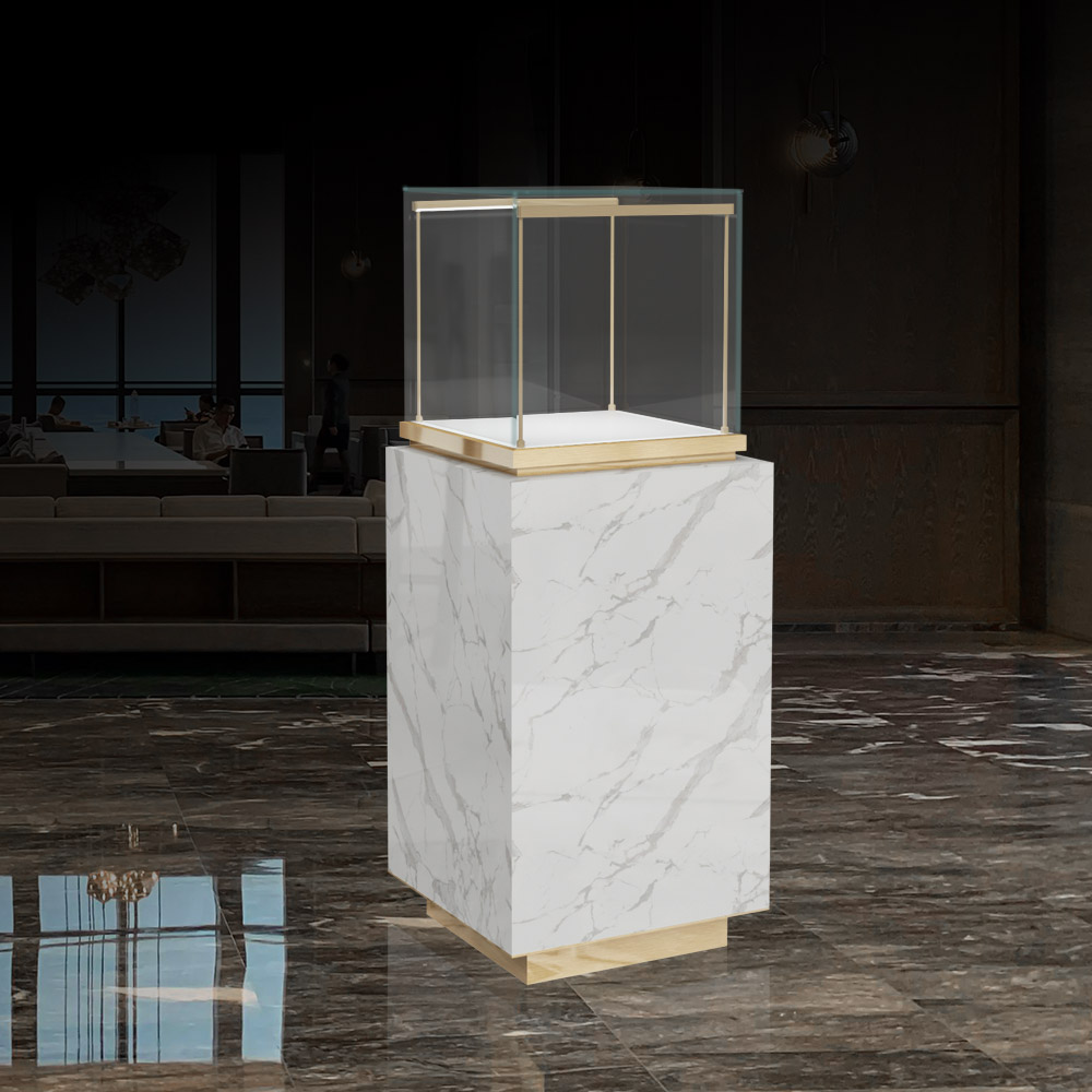 MT-25-1473 Marble Display Case Front View| Besty Display