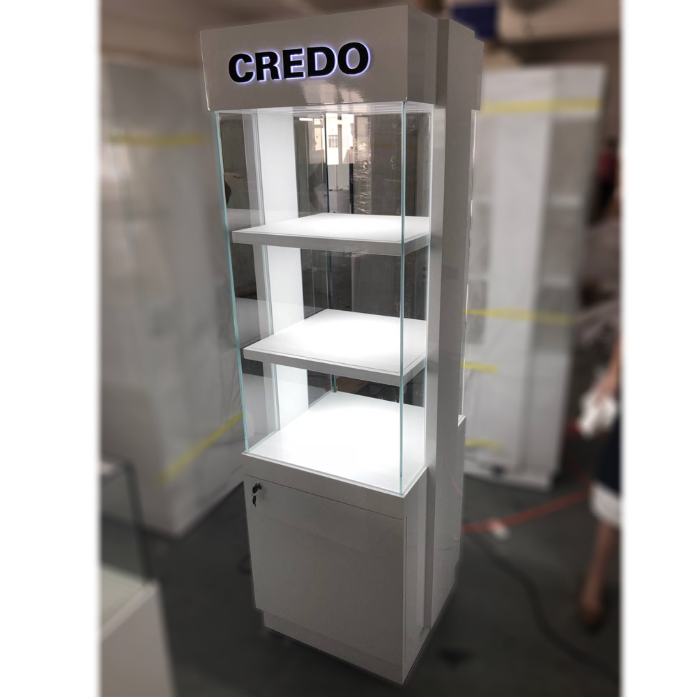 White Clean Tower Display Case | Besty Display