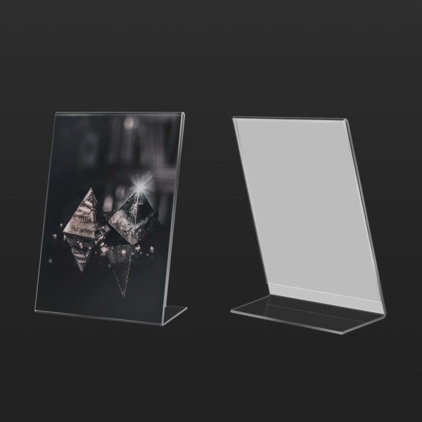 Acrylic Poster Holder Vertical L Shape   Besty Display