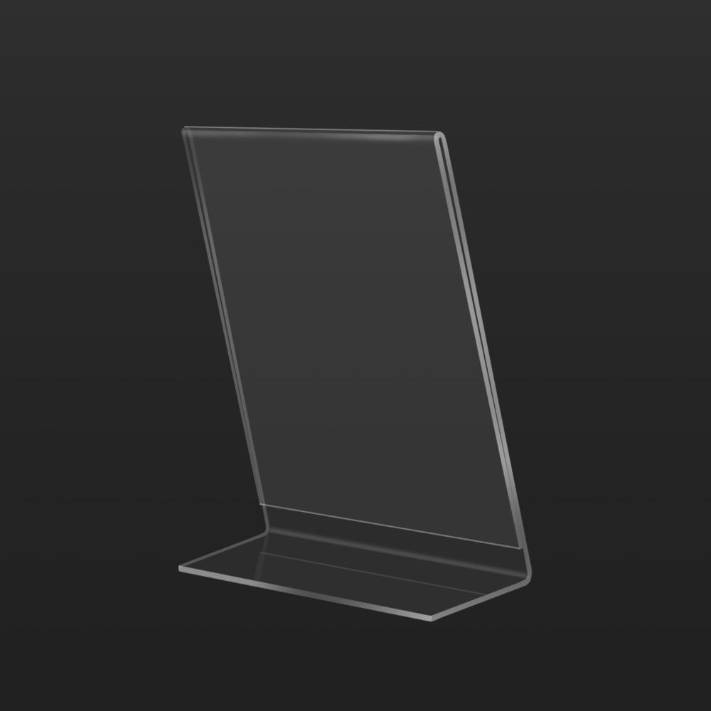 Back Table Top Sign Holder Vertical L Shape | Besty Display
