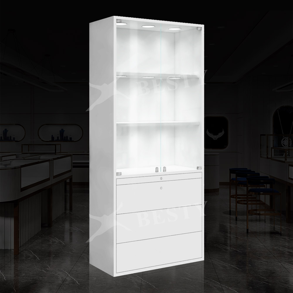 S-122 retail wall display case | Besty Display