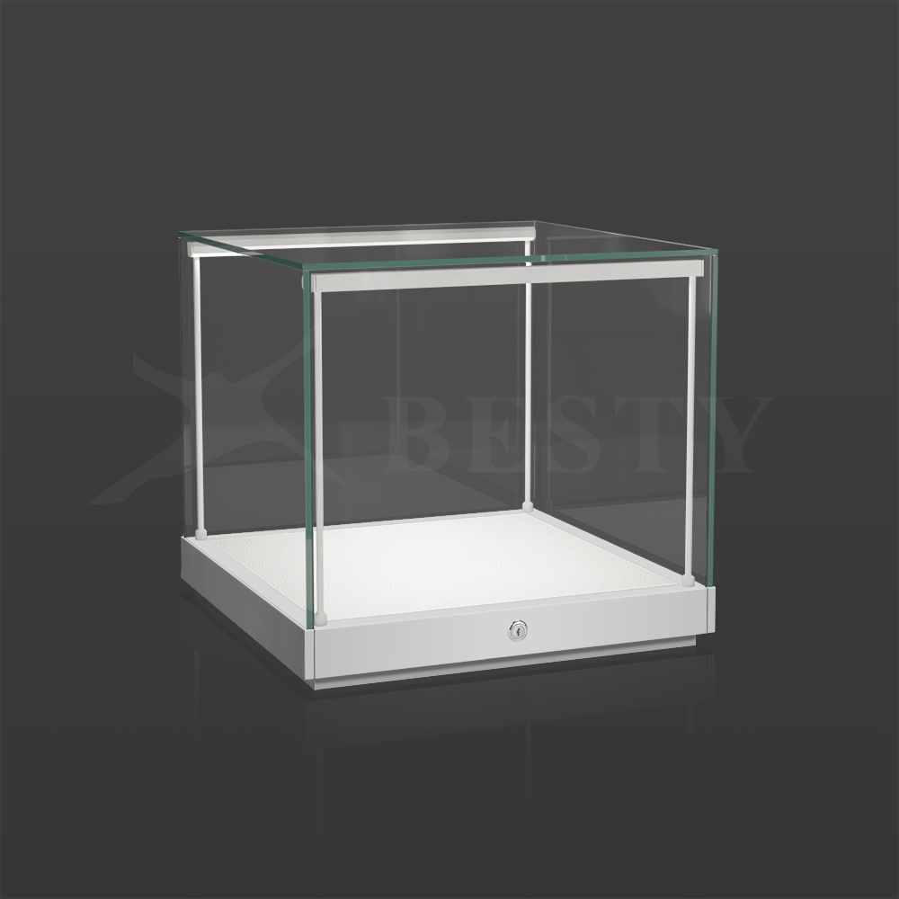 S-135 Counter Top Display Case in White   Besty Display