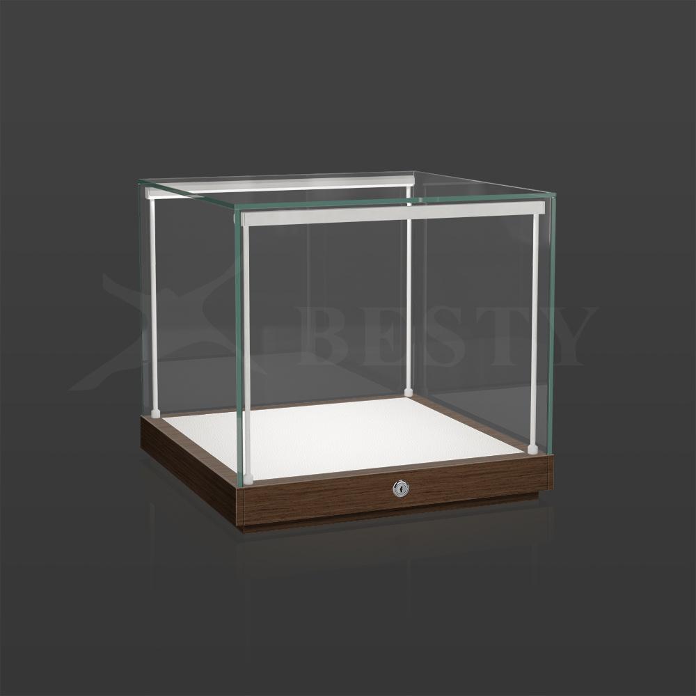 S-135 Countertop Glass Case Oak Matt Finish   Besty Display