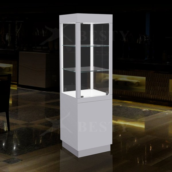 Lighted Tower Display Case   Besty Display