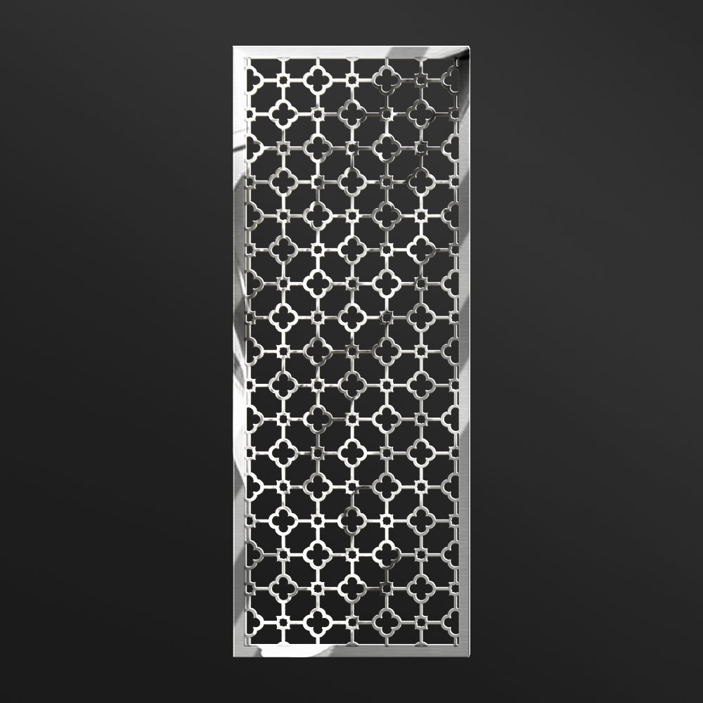 Stainless Steel Panel Hollow Out Pollished | Besty Display