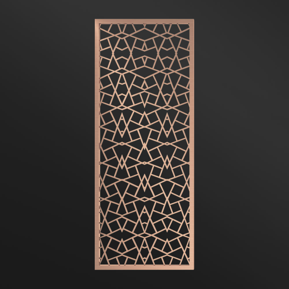 MPW-02 Partition Wall Rose Gold | Besty Display