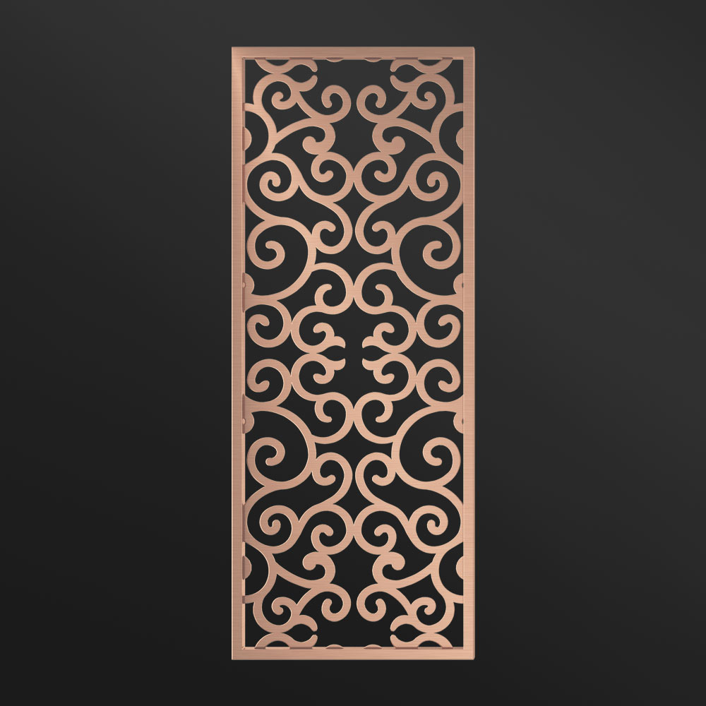 MPW-04 Decorative Screen Dividers Rose Gold   Besty Display