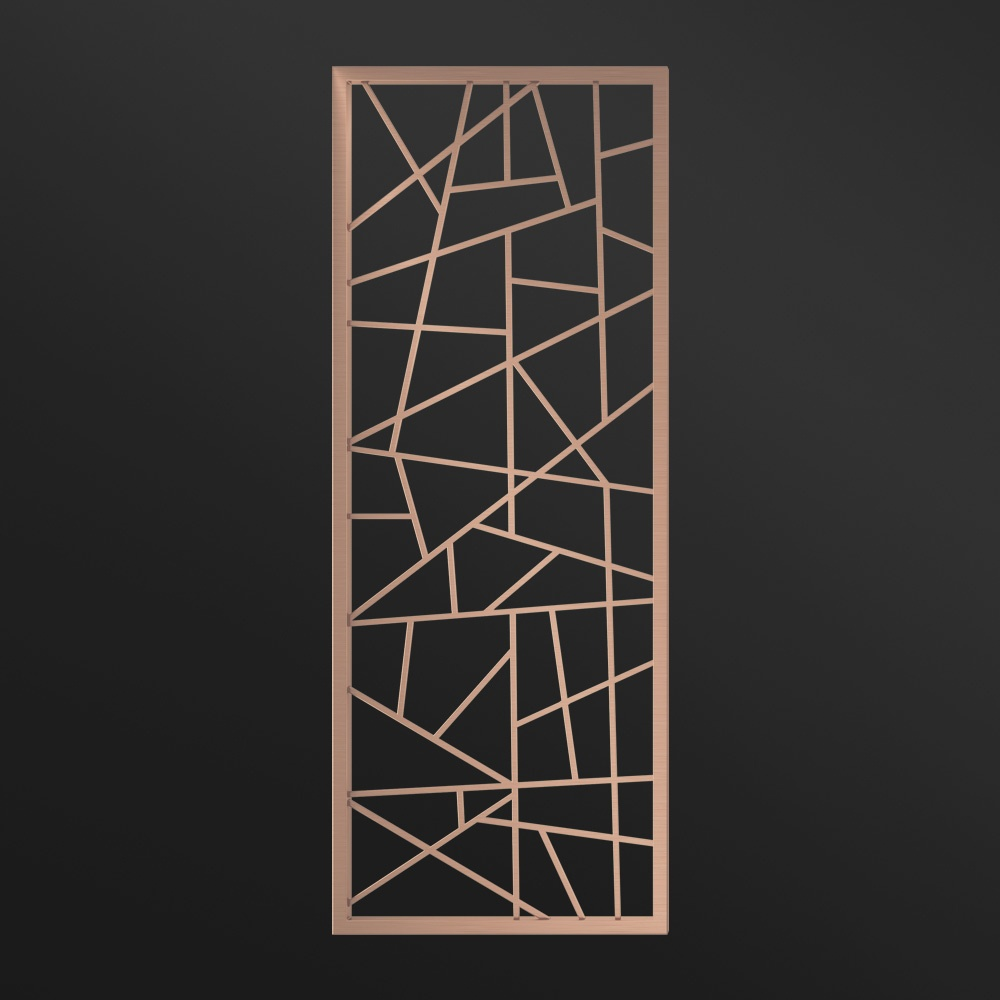 MPW-05 Metal Partition Divider Rose Gold   Besty Display