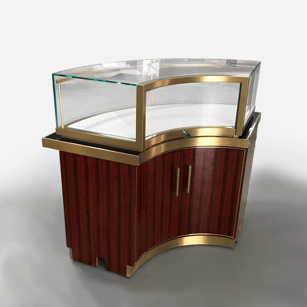 MT-36 Round Jewelry Display Case Base Cabinet | Besty Display