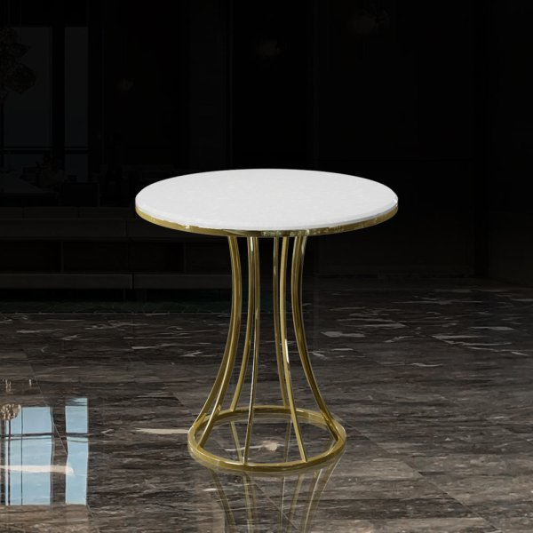 TBL-002 Round Table Marble | Besty Display