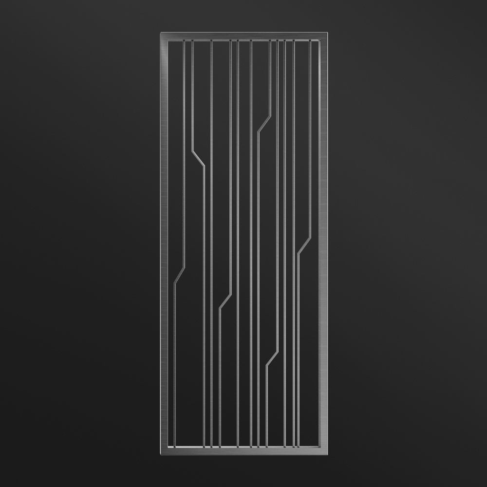 MPW-07 Brushed Stainless Steel Black   Besty Display