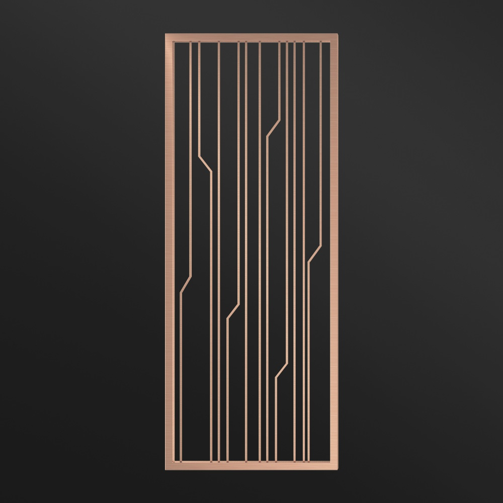 MPW-07 Partition Wall Metal Rose Gold   Besty Display