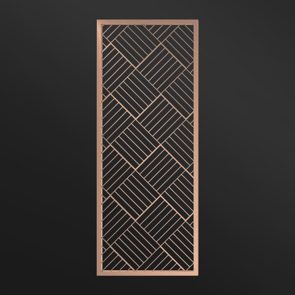 MPW-08 Metal Divider Wall Rose Gold   Besty Display