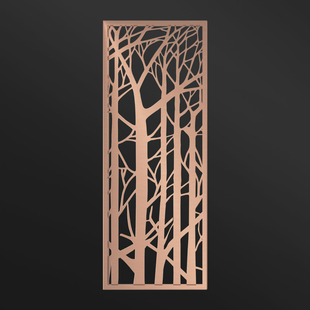 MPW-09 Metal Partition Panels Rose Gold | Besty Display