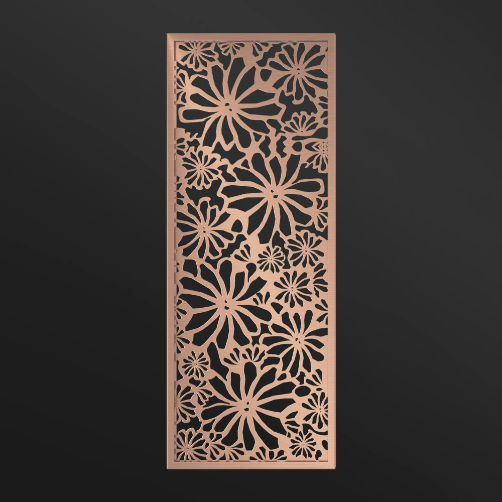 MPW-10 Decorative Screen Laser Rose Gold   Besty Display