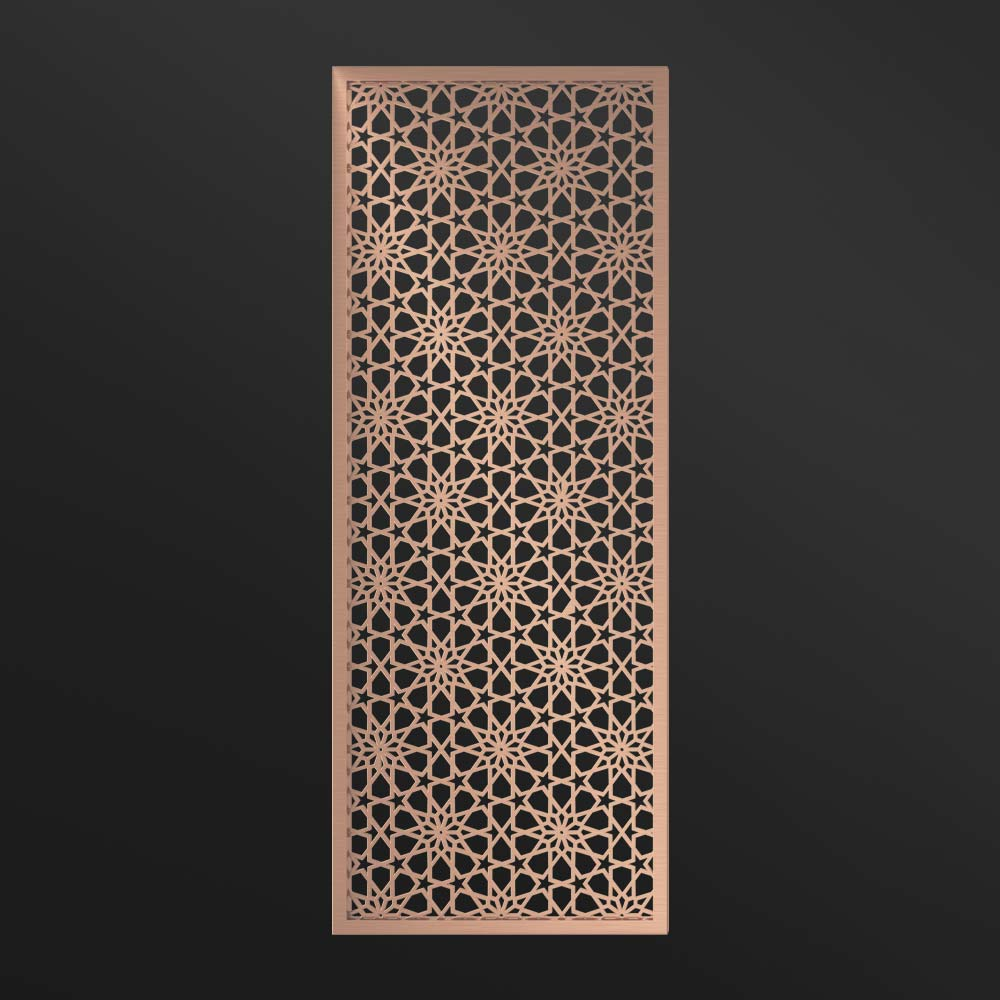 MPW-14 Metal Wall Panel Rose Gold   Besty Display