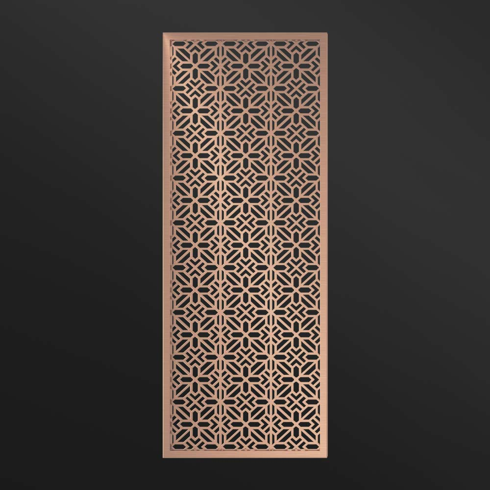 MPW-15 Interior Metal Partition Rose Gold   Besty Display
