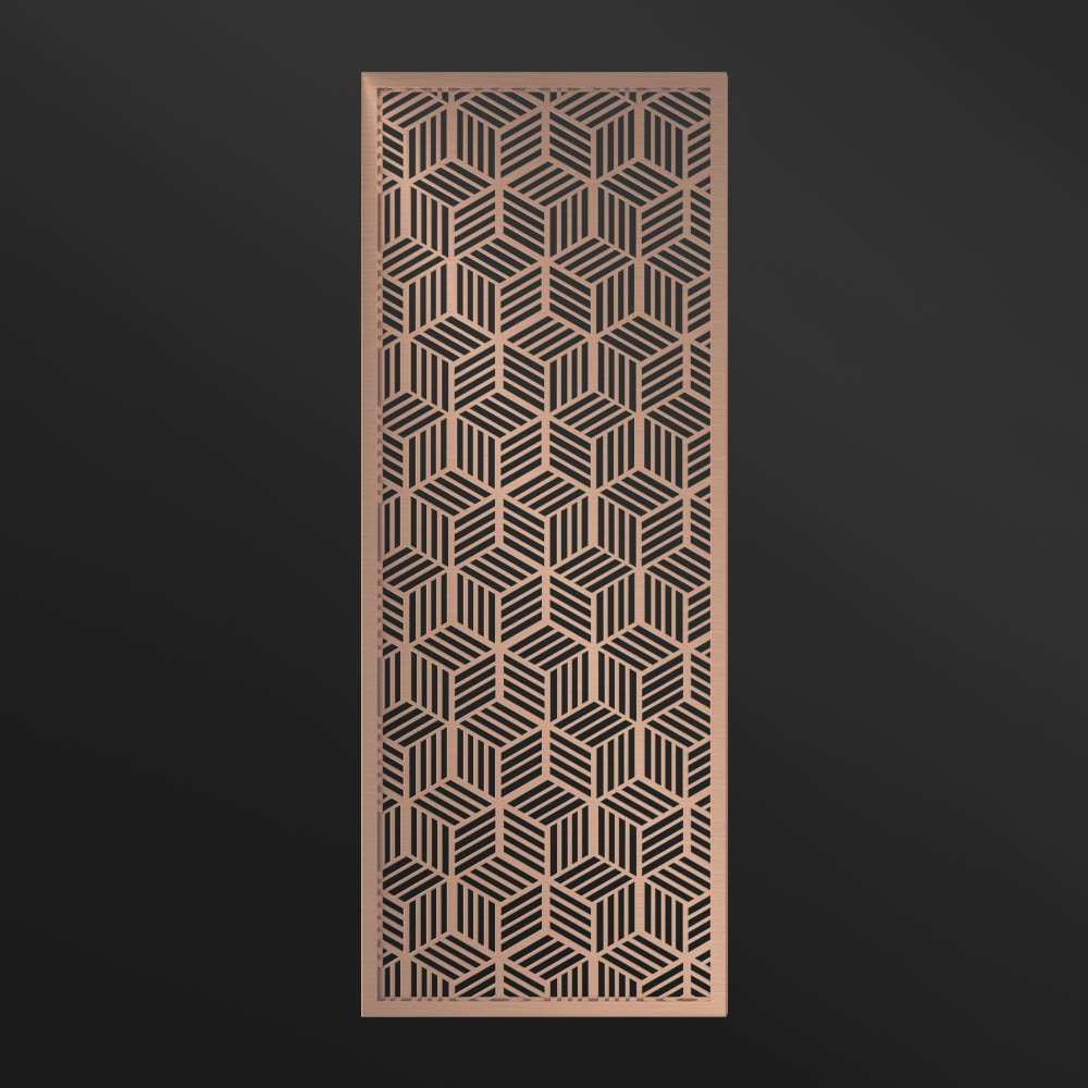 MPW-17 Metal Frame Partition Wall Rose Gold   Besty Display