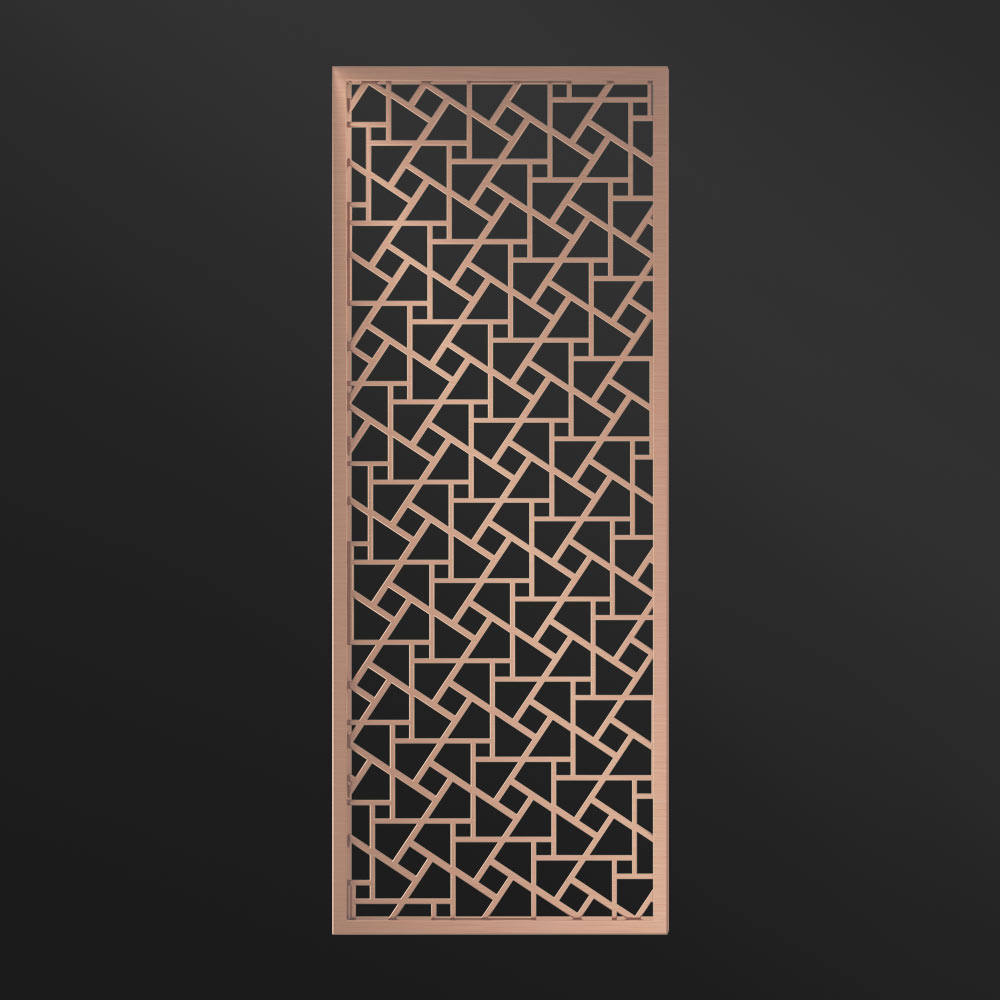 MPW-19 Metal Partition Panels Rose Gold   Besty Display
