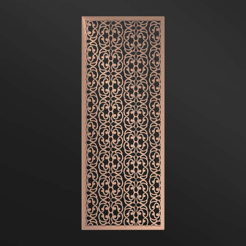 MPW-21 Partition Wall Floor to Ceiling Rose Gold | Besty Display