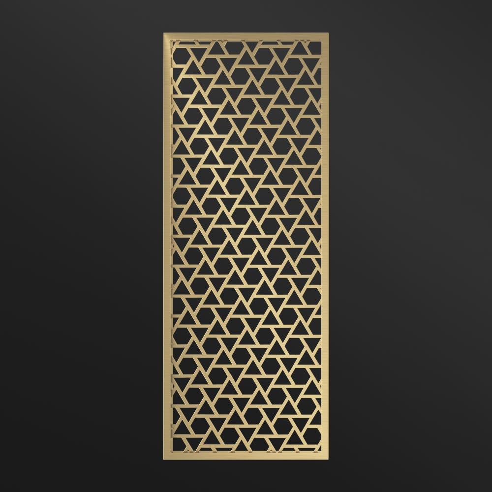 MPW-23 Metal Wall Divider Brass   Besty Display